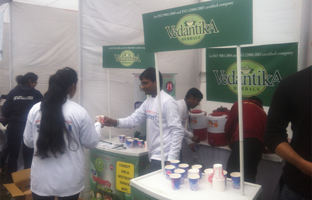 Vedantika herbals drinks are distributing to all volunteers of  Swechha We for Change Foundation (We for Yamuna)