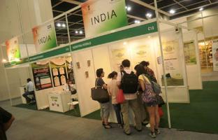 Vedantika herbals stall at Indian Pavilion at Hongkong International Expo, Hongkong