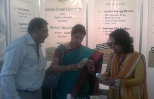Famous T.V Actress – Ms. Savita Prabhune -  appreciating Vedantika herbals products