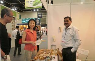 Mr Limbasiya At Natural and Organic products  Asia Expo, Hong Kong